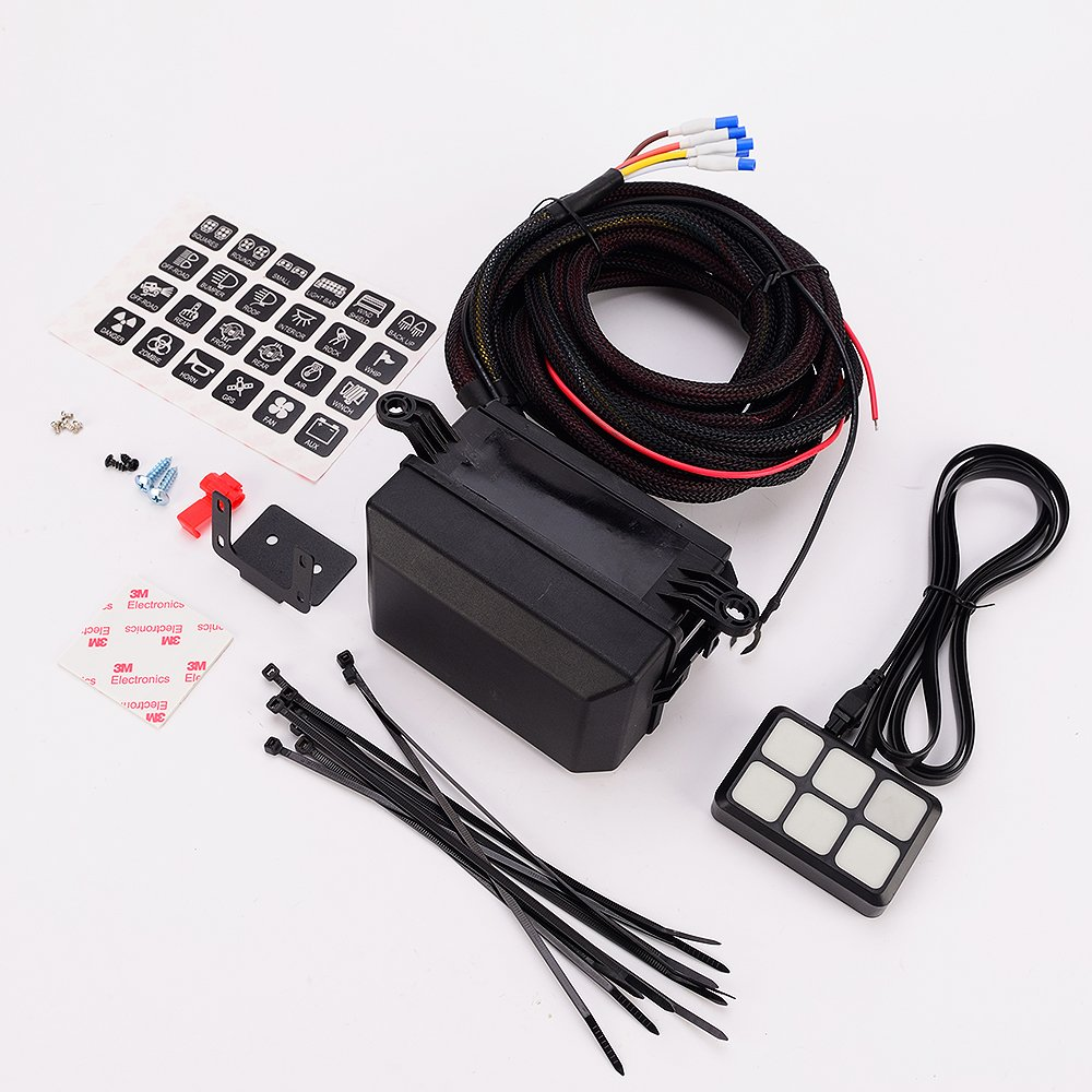 Amazon.com: DC12V 6 Way LED Switch Panel w/ Circuit Control Box and Cable  for Car Truck Caravan Boat Yacht Marine: Automotive