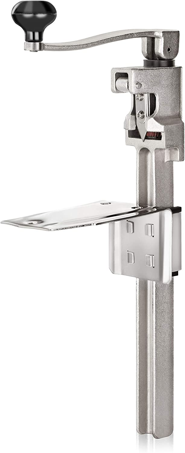 """New Star Foodservice7006841#1 Manual Table Can Opener with Plated Steel Base For Cans Up to 11"""" Tall"""