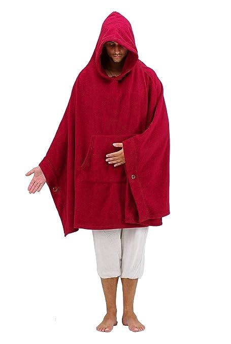 Live Up Capa de meditación - Abrigo con Capucha - Relajación Budista de Yoga Unisex Hombres Mujeres