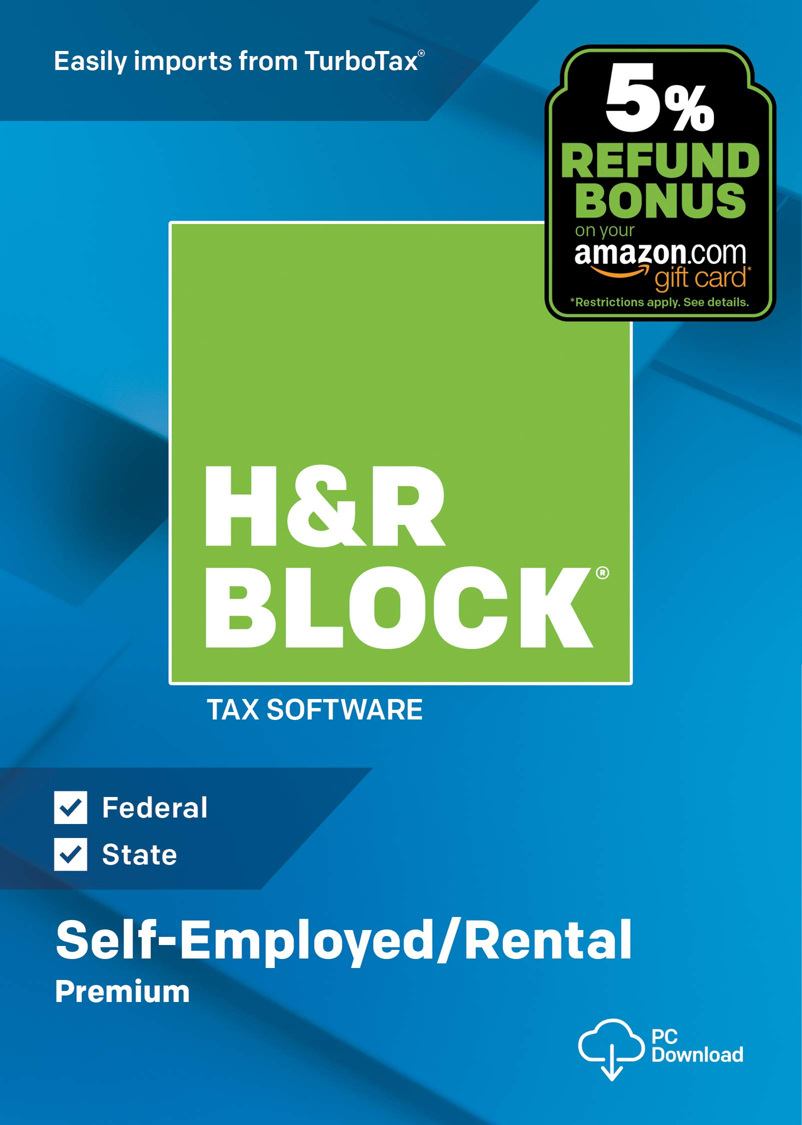H&R Block Tax Software Premium 2018 with 5% Refund Bonus Offer [Amazon Exclusive] [PC Download] by H&R Block