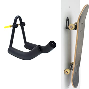 GroBartig Teklife Skateboard Wall Hanger Wall Storage Rack Skateboard Wall Rack Wall  Mount   For Heavy Skateboard