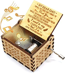 ukebobo Wooden Music Box- You are My Sunshine Music Box, from Daughter to Dad, Unique Music Box for Dad - 1 Set