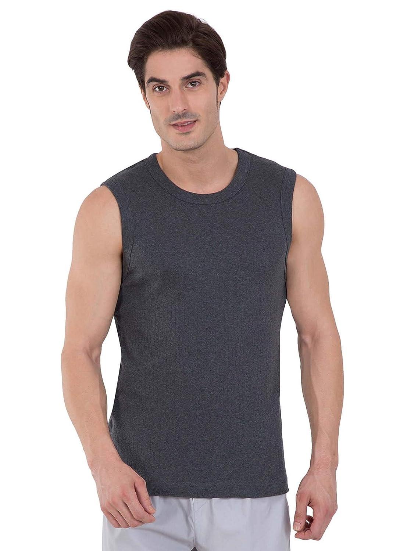 Jockey Men's Cotton Muscle Tee (9930-0105-CHAML Charcoal Melange M)