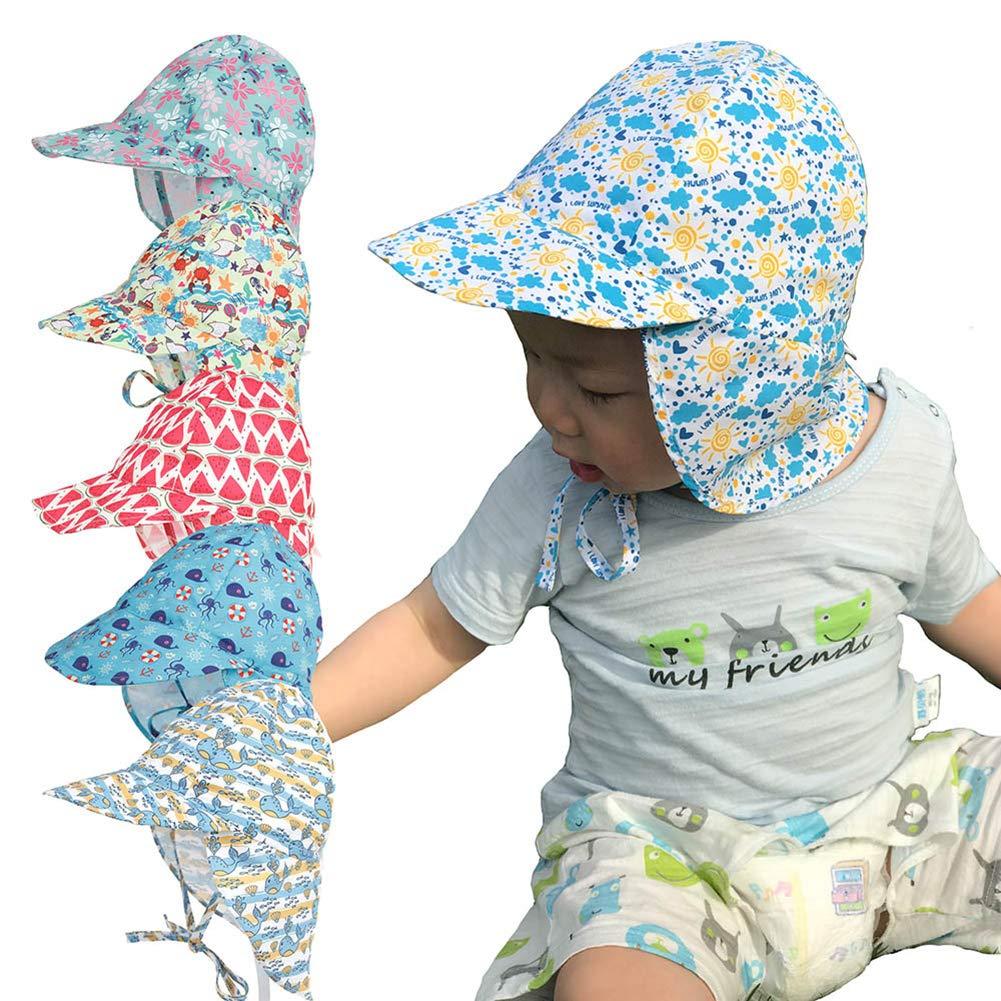 HugeDE Sombrero de Playa de Protección Solar Gorro de Verano ...