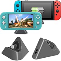 Charging Dock for Nintendo Switch Lite and Nintendo Switch, Compact Charging Stand Station with Type C Port Compatible with Nintendo Switch Lite 2019 (Grey)