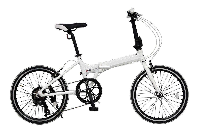 ANIMATO(アニマート) 折りたたみ自転車 20インチ 7段変速 アルミフレーム AL20 1年保証 B07DTFC3P7ホワイト