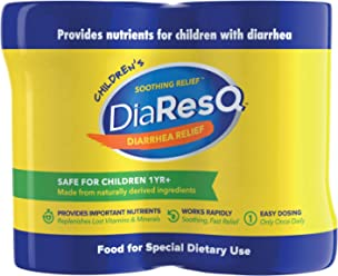 DiaResQ Children's Soothing Diarrhea Relief - (Vanilla, 4 ct) Fast-Acting Diarrhea Relief that is Safe, Drug-Free, and Effective in Relieving Diarrhea for Children 1 Yr. and Older