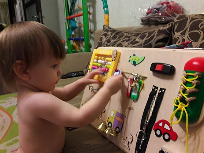 Learning Toys For Autistic Toddlers : Amazon busy board for toddler activity board wooden busy