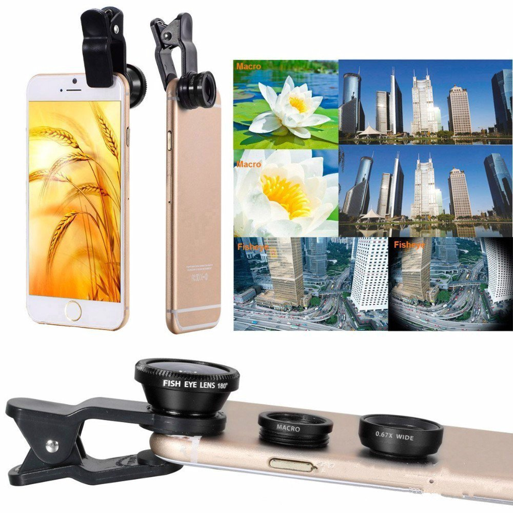 10 In 1 12X Mobile Phone Telephoto Lens Three In One Fish-eye Wide-angle Macro Lens 12 Times Telescope Self-timer