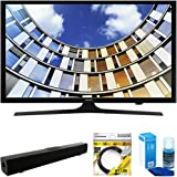 """Samsung Flat 40"""" LED 1920x1080p 5 Series Smart TV 2017 Model (UN40M5300AFXZA) with Solo X3 Bluetooth Home Theater Sound Bar, 6ft HDMI Cable & Universal Screen Cleaner for LED TVs Large Bottle"""