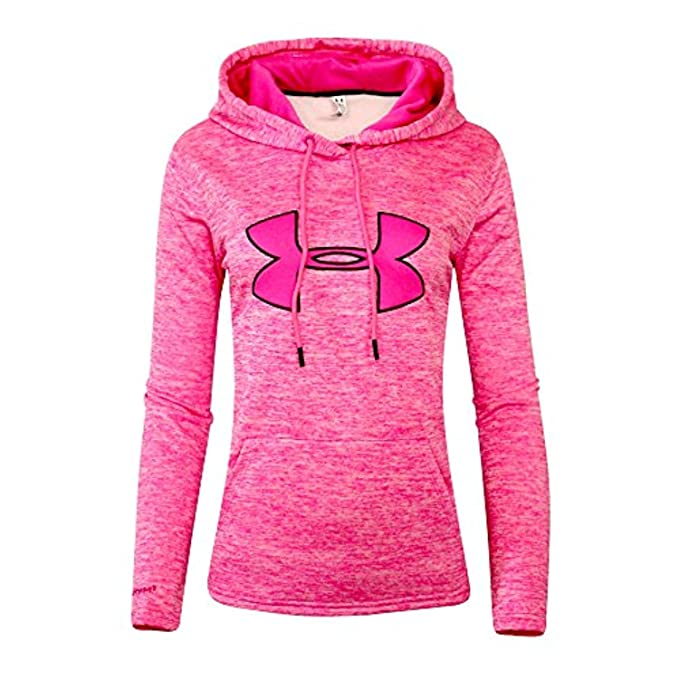 0cee50140 Under Armour Women's UA Storm Big Logo Hoodie PINK HEATHER ATHLETIC HOODY  ...