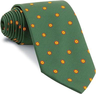 Cencibel Smart Casual Corbata Verde Botella Círculos Bandera España Escarapela: Amazon.es: Ropa y accesorios