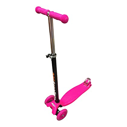 Scooters for Kids,SMI Wide Deck 3 Wheels Scooter 4 Years and Up with T-Bar Handle Kick Scooter Light Up Wheels