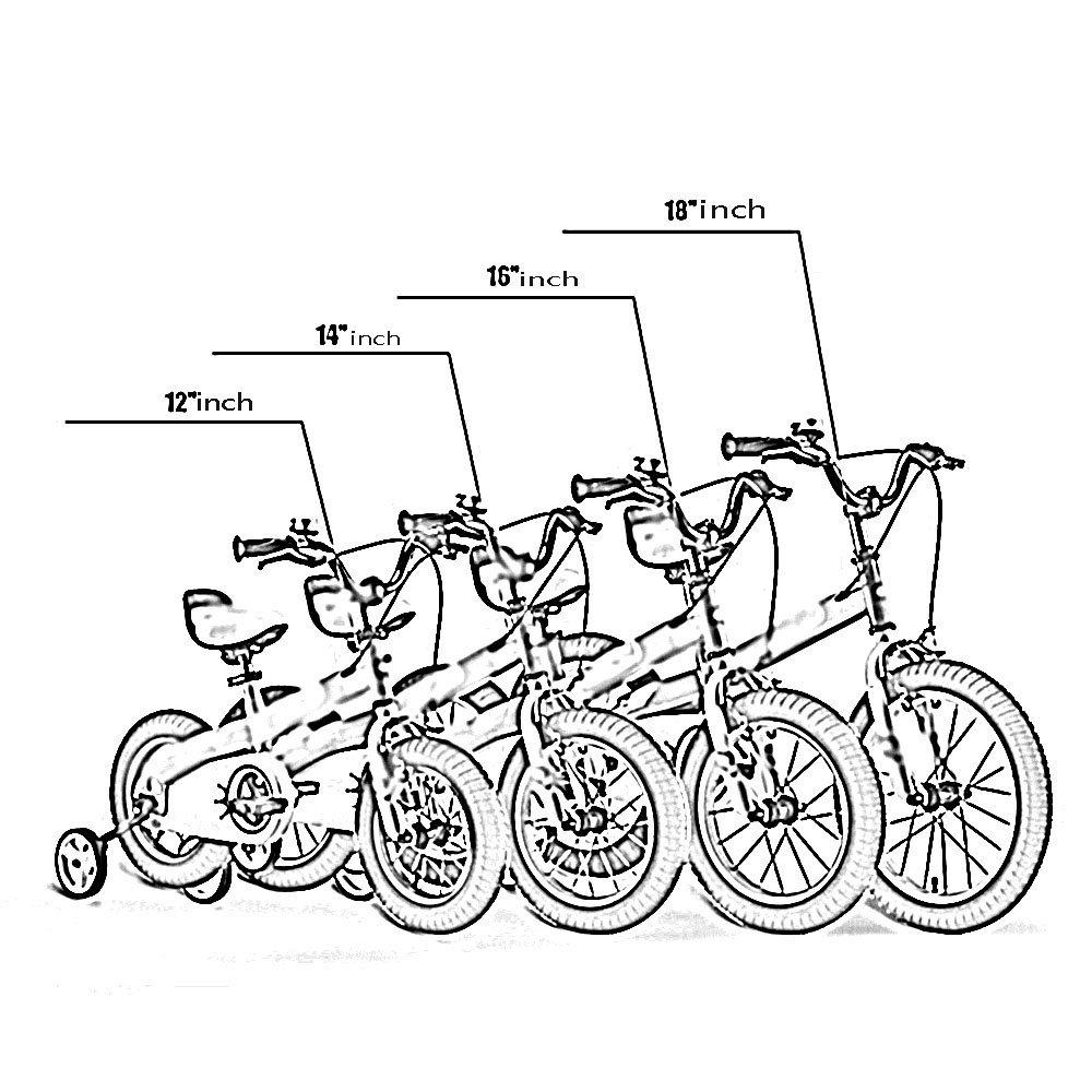PJ bicicleta Bicicleta Para Nintilde;os Nintilde;os Nintilde;os Azul Morado Tamantilde;o 12 Pulgadas, 14 Pulgadas, 16 Pulgadas, 18 Pulgadas Excursioacute;n Al Aire Libre adecuado para uso nintilde;os ( Color : Azul , Tamantilde;o : 14 inch ) c286bb