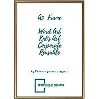 A3 Frame, Art Frame, Poster Frame,Document Frame, Word Art Frame, Gold