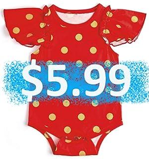 a8a6cd7c22ba Amazon.com  Baby Girl Clothes Floral Gold Dots Sleeveless Long ...