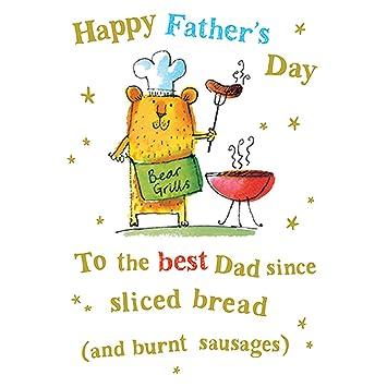 Tarjeta de Fathers Day diseño de oso Parrillas: Amazon.es ...