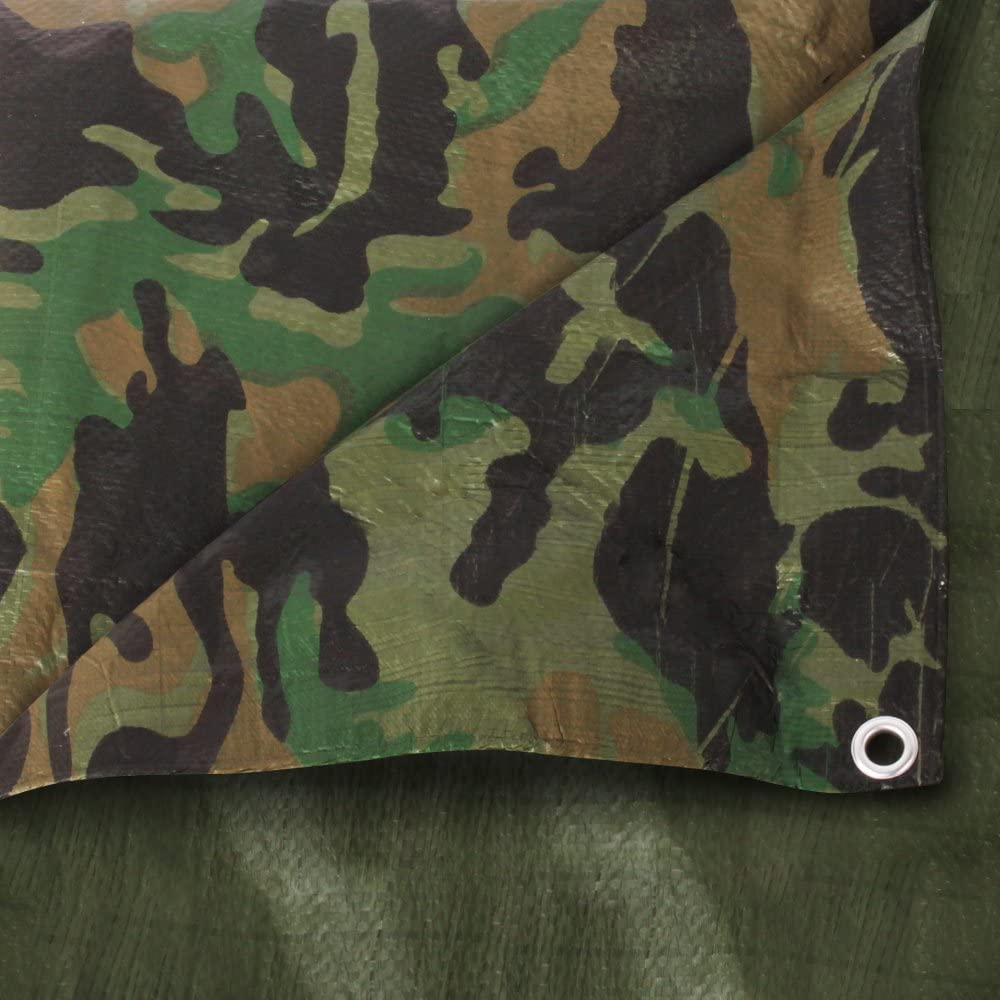 The Chemical Hut Waterproof Camouflage Army Tarpaulin Ground Sheet 4ft X 6ft 1.2m x 1.8m