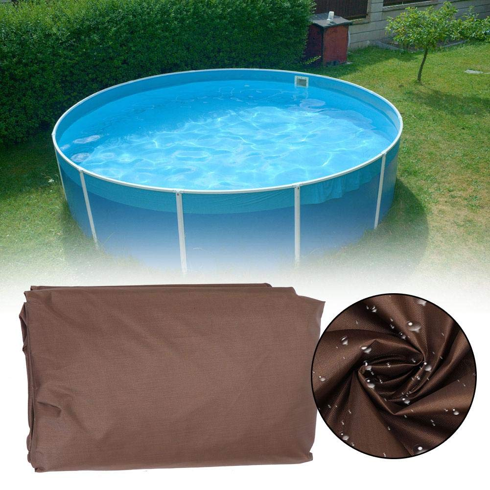 Coffee Outdoor Round Spa Hot Tub Cover Waterproof Dust-Proof Hot Spring Protector Cover Universal Hot Tub Cover Hot Spring Cover