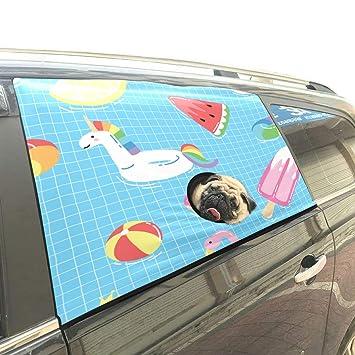 Brillante Flotador Unicornio o Flamenco en la Piscina Plegable Mascotas Perro de Seguridad Coche Impreso Valla Ventana Cortina Barreras bebé niño Sombrilla ...