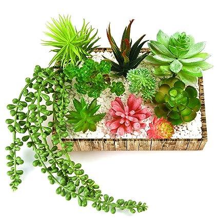 Kuuqa 10 Piante Grasse Artificiali Con Fiori Da Appendere Per La Decorazione Della Casa Del Giardino Senza Vaso Accessori Fai Da Te