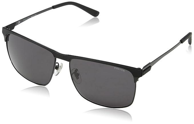 Police Crossover 2, Gafas de Sol para Hombre, Negro (Shiny Black),