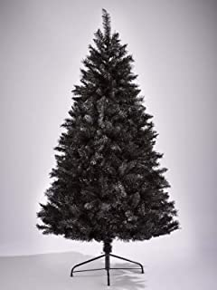 7ft black christmas tree bushy looking artificial tree with metal