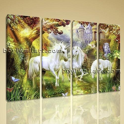 Amazon.com: Large Unicorn Horse Picture Classic Wall Decor Living ...