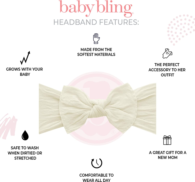 baby Hair Bow Baby Kinley Kate Baby Bow Set of 4 Small Loopy Headbands baby girl bow headbands white bow baby headband pink bow