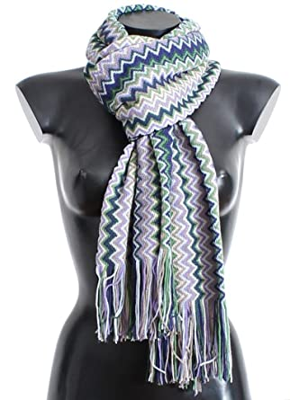 4009c6513 Missoni Multicolor zig zag pattern wool scarf at Amazon Women's Clothing  store: