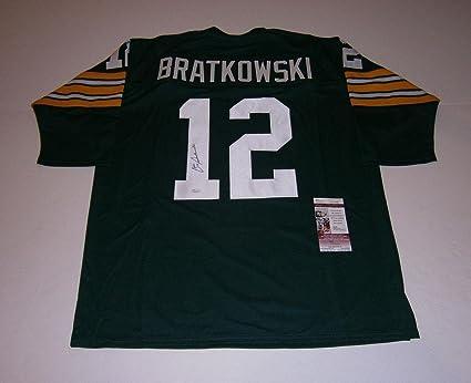 super cute 84b97 d9875 Zeke Bratkowski Autographed Jersey - custom #12 COA - JSA ...