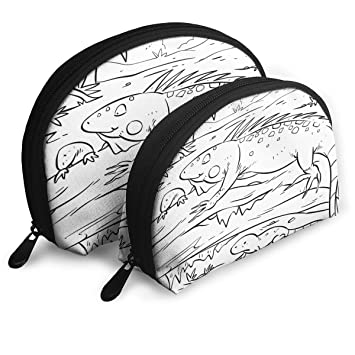 Amazon.com : Makeup Bag Iguana With Hatchlings Portable Shell Makeup Case For Mother Halloween Gift 2 Pack : Beauty