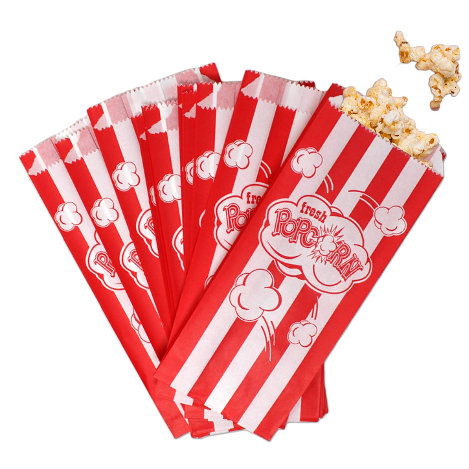 """and More 8.75/"""" x 3.5/"""" Classroom Party Favors 50 Count Premium Popcorn Bags Fresh Disposable Popcorn Bags for Movie Night"""