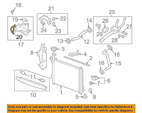 amazon com: general motors 25834601, engine coolant recovery tank hose:  automotive