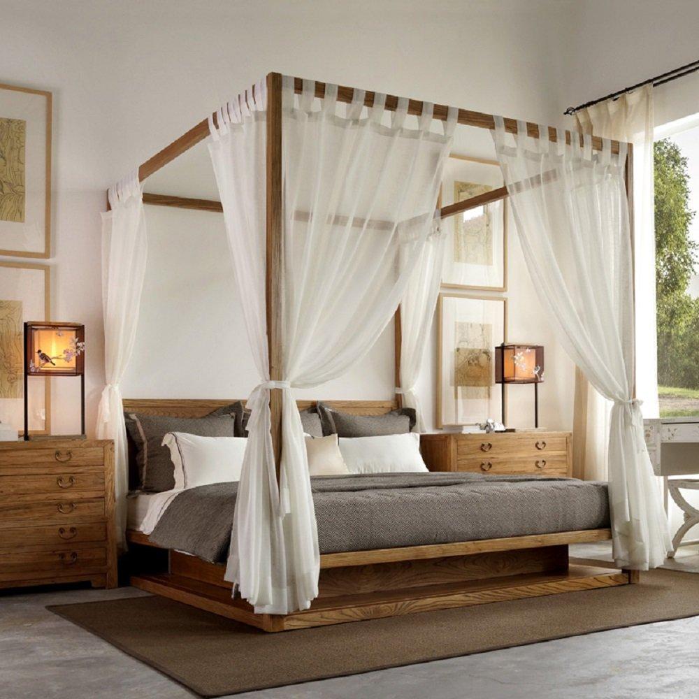 Shatex Indoor Outdoor Sheer Window Elegance Curtains