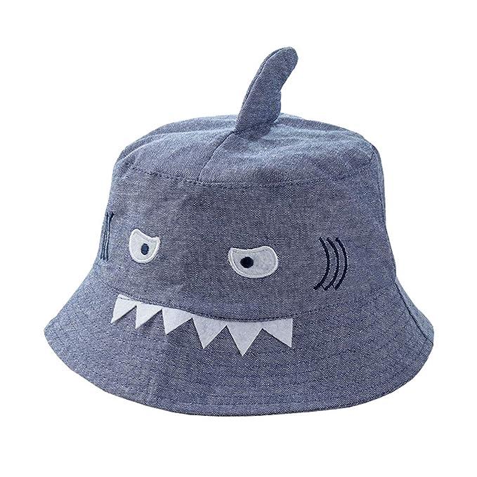58411cd69bb81c Amazon.com: ACVIP Little Boy's Shark Face Denim Fancy Bucket Hat ...