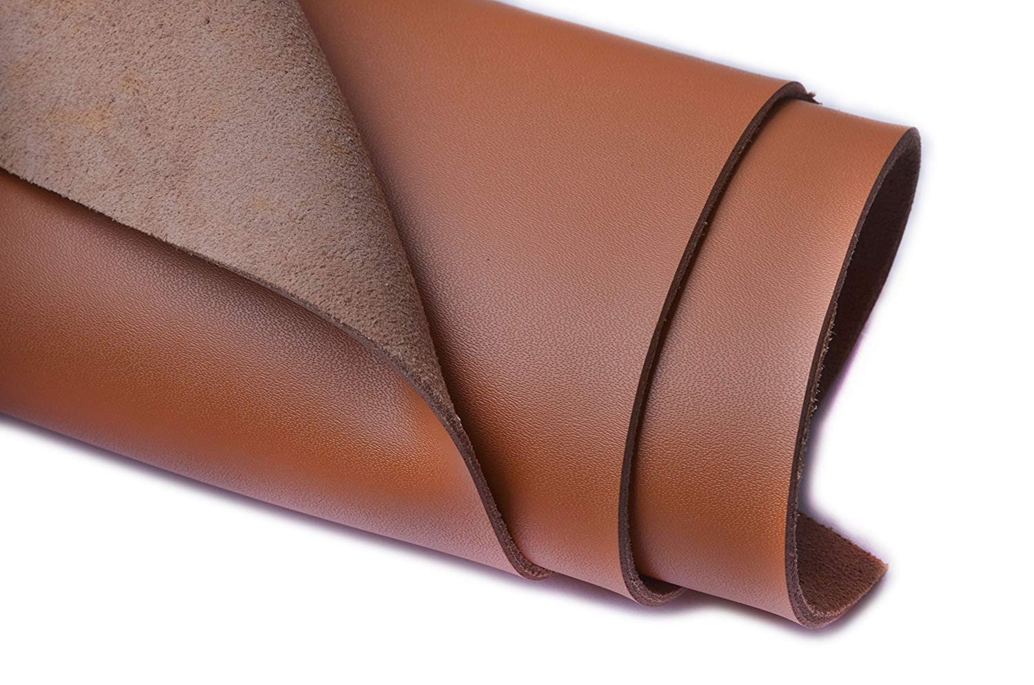 1 Square Foot , Camel Wento 1.8-2mm Thick Solid Genuine Leather Finished,Cow Split Leather,Cowhide Leather,Split Hide Leather 12 x 12