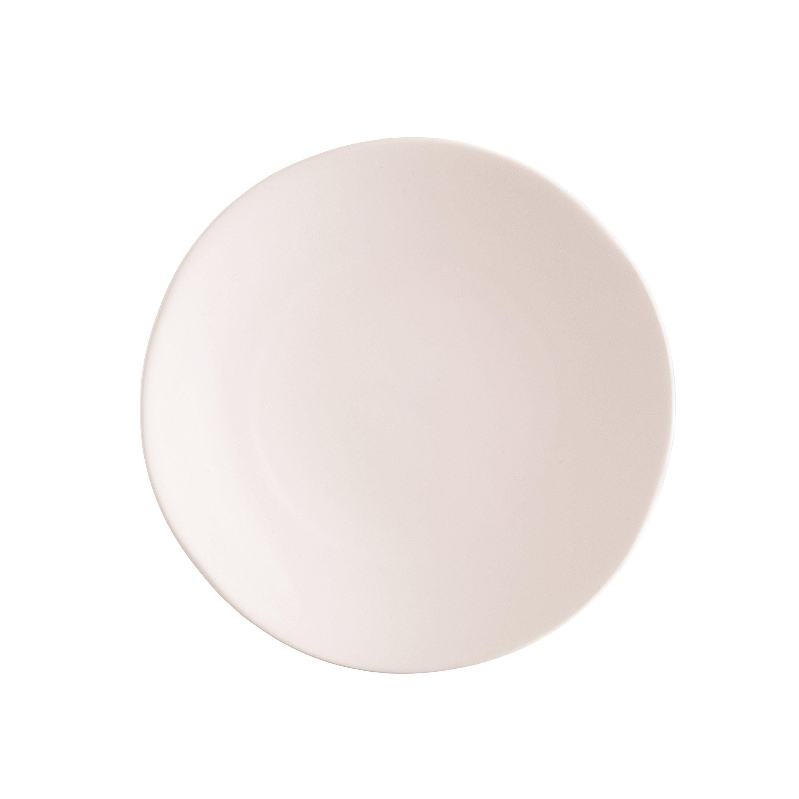 Fortessa Vitraluxe Dinnerware Heirloom Matte Finish Show Plate 12-Inch, Blush, Set of 4