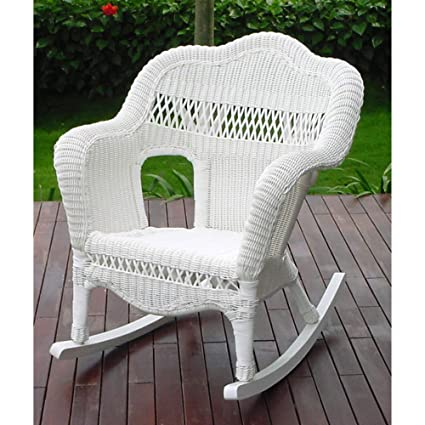 All Weather Sahara Resin Wicker Rocker   Steel Frame