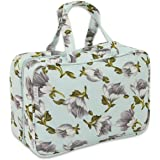 JODA Ladies Pretty Blue Floral Travel Cosmetic Toiletry Wash Bag with Handles for Women