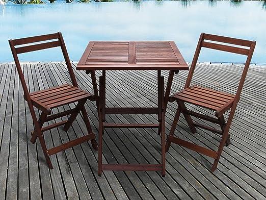 Habitat et Jardin - Salon de jardin en bois exotique Hanoï ...