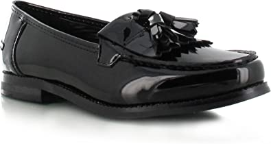 Womens Ladies Loafers Brogues Pumps Casual School Office Comfy Work Flats Size