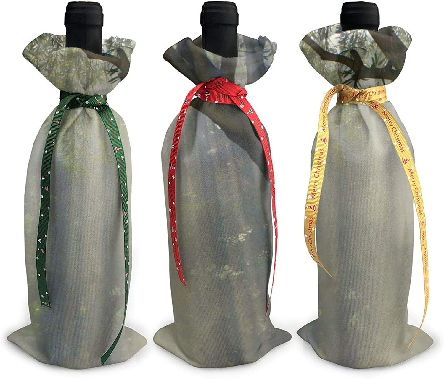 Foggy Olive Tree 3pcs Wine Bottle Cover Wine Bottle Gift Bags For Dinner Party Table Decorations Amazon Ca Home Kitchen