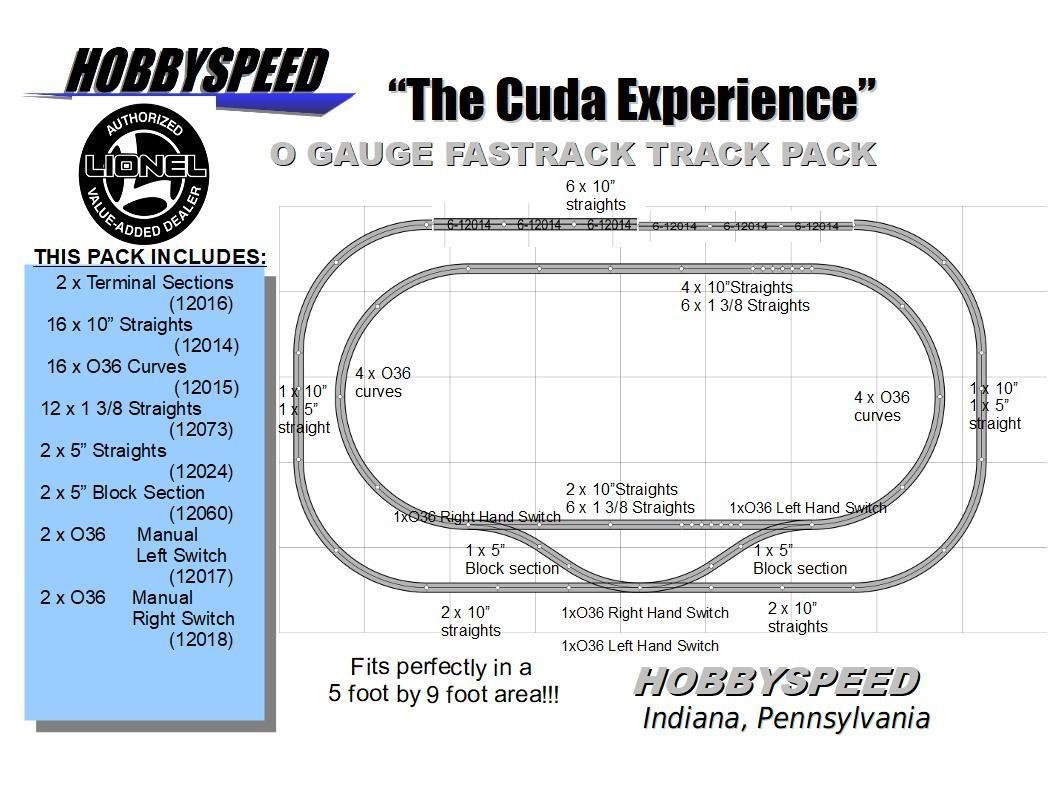 Fastrack Lionel The Cuda Experience Track Pack 5 X 9 O Switch Wiring Free Download Diagrams Pictures Gauge Train Layout Toys Games