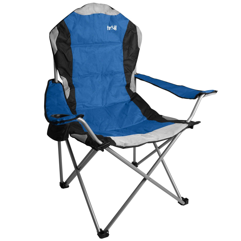 Kestrel Heavy Duty Padded Camping Chair Steel Folding Festival Cup