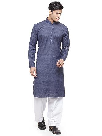 a769f767fe RG Designer Grey Purple Kurta and Pyjama Set_RGAVPPlainMoti_GreyPurple-48