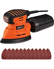 Mouse Sander, Tacklife Detail Sander 1.1A 130W 12000 RPM with 12 pcs Sandpapers, Dust Collection System for Tight Spaces Sanding in Home Decoration, DIY | PMS01A