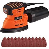 Tacklife Classic Mouse Detail Sander with 12-Pieces Sandpapers