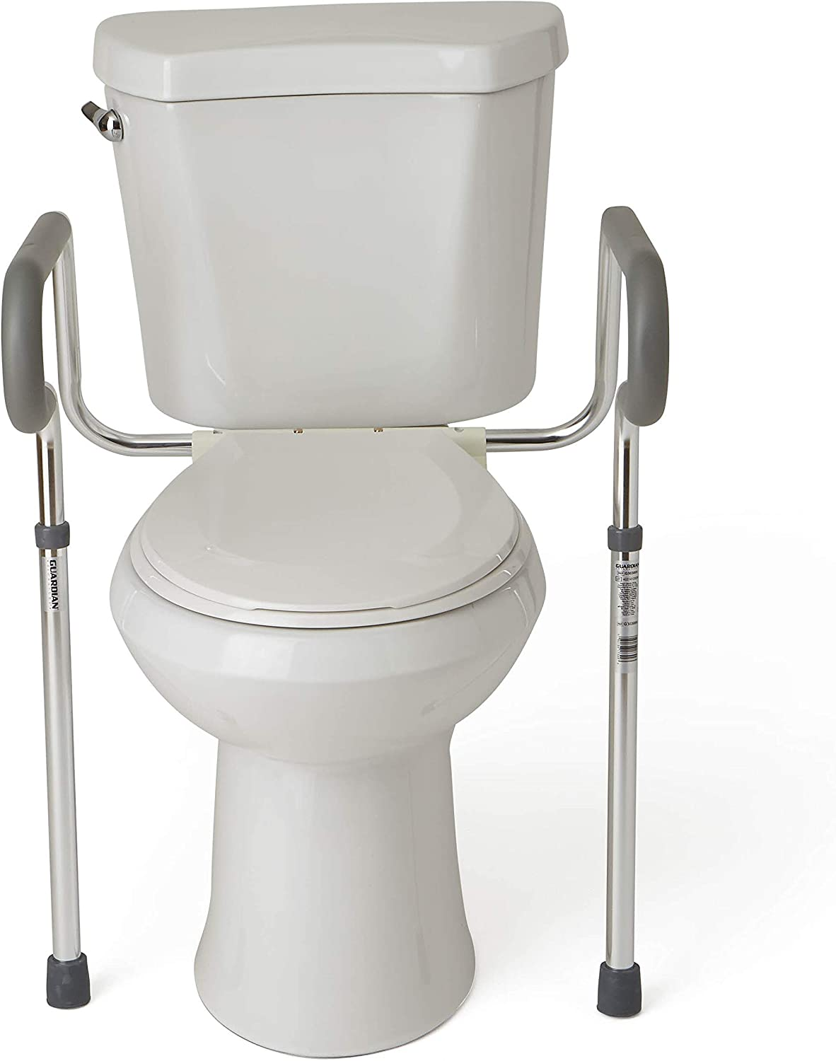 Medline's Guardian Toilet Safety Rail with Adjustable Height for Bathroom Safety, Toilet Assist, and Grab Bar: Health & Personal Care