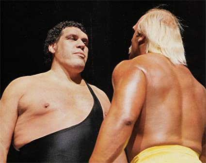 amazon com andre the giant vs hulk hogan poster art photo pro